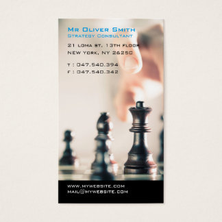 Consulting in Strategy finances or business Business Card