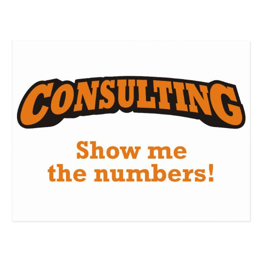 Consulting / Numbers Postcard