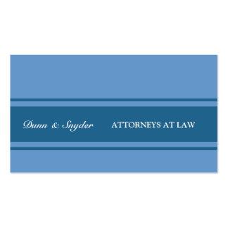 Consultor azul moderno de la ley del abogado de tarjetas de visita