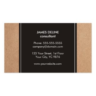 Consultor blanco gris oscuro de la cartulina tarjetas de visita