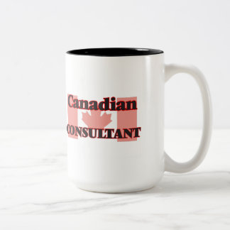 Consultor canadiense taza de dos tonos