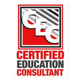 Consultor certificado de la educación postales