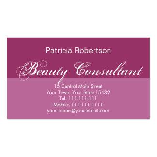 Consultor de belleza elegante de lujo del rosa tarjetas de visita