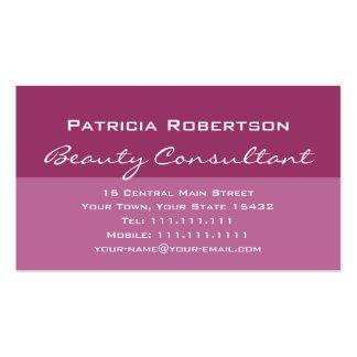 Consultor de belleza elegante lujoso del rosa tarjetas de visita