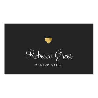Consultor de belleza lindo del negro del corazón tarjetas de visita