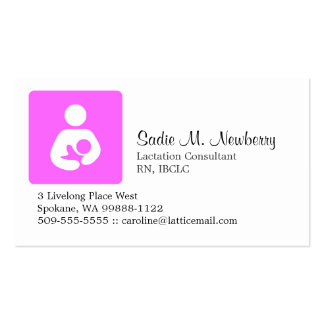 Consultor de la lactancia plantilla de tarjeta de visita