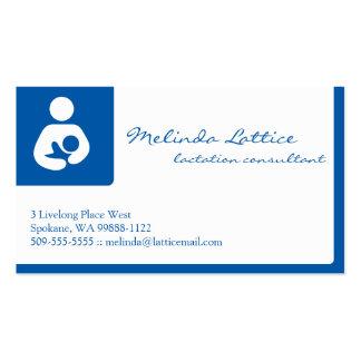 Consultor de la lactancia plantillas de tarjetas personales