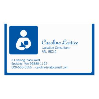 Consultor de la lactancia tarjetas de visita