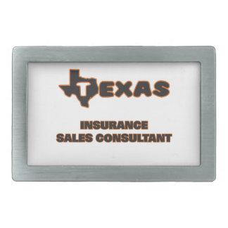 Consultor de las ventas del seguro de Tejas Hebilla De Cinturón Rectangular
