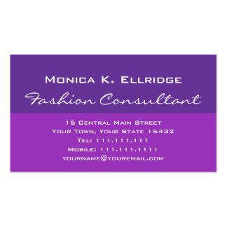 Consultor de moda púrpura y fucsia bonito tarjetas de visita
