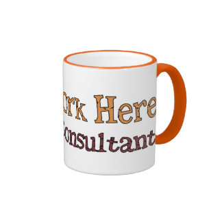 Consultor de trabajo tazas