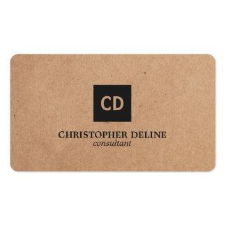 Consultor elegante moderno del monograma del papel tarjetas de visita