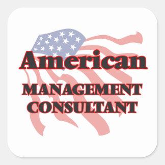 Consultor en administración de empresas americano pegatina cuadrada