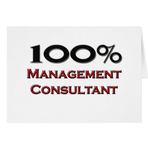 Consultor en administración de empresas del 100 po tarjeta