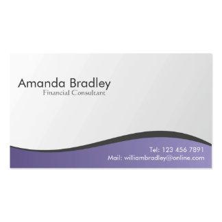 Consultor financiero - tarjetas de visita