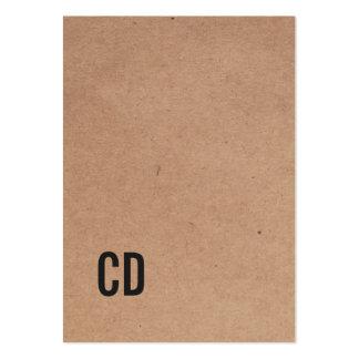 Consultor fresco moderno del monograma del negro tarjetas de visita grandes