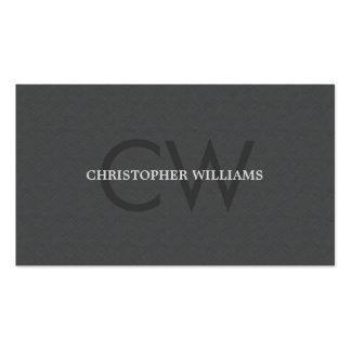 Consultor gris del monograma de la textura tarjetas de visita