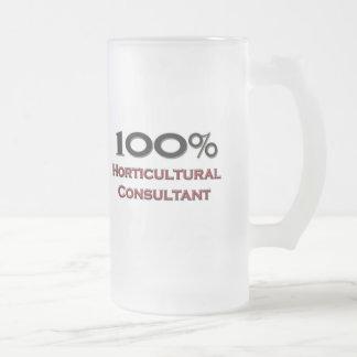 Consultor hortícola del 100 por ciento taza de café