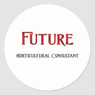 Consultor hortícola futuro pegatinas redondas