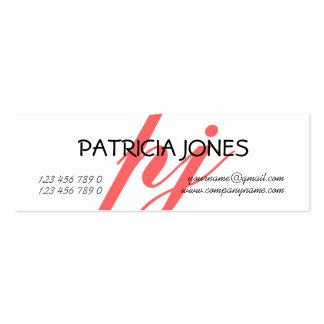Consultor independiente profesional con monograma tarjetas de visita mini