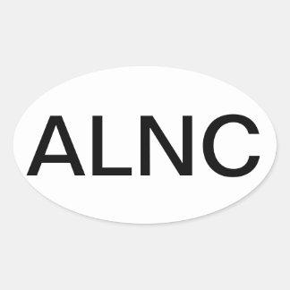 Consultor legal avanzado de la enfermera calcomanía ovaladas personalizadas