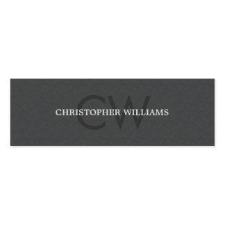 Consultor masculino elegante moderno del gris de tarjetas de visita mini