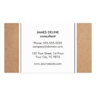 Consultor simple elegante del blanco de la tarjetas de visita