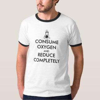 Consuma el oxígeno y reduzca totalmente playera