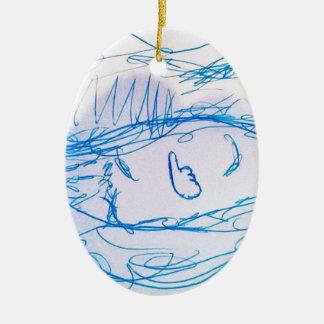 Consuma los similares adorno navideño ovalado de cerámica