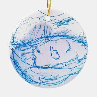 Consuma los similares adorno navideño redondo de cerámica
