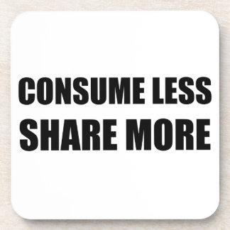 Consuma menos parte más posavasos de bebidas