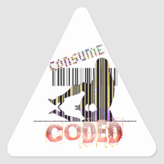 Consumer Bar Code Triangle Sticker