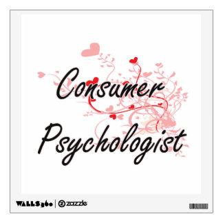 Consumer Psychologist Artistic Job Design with Hea Room Sticker