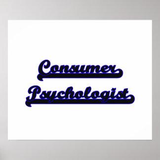 Consumer Psychologist Classic Job Design Poster