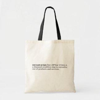 Consumerism Defined Canvas Bag