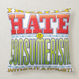 Consumerism Hate Face Throw Pillow