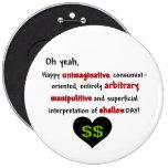 Consumerist Anti-Valentine Pinback Buttons