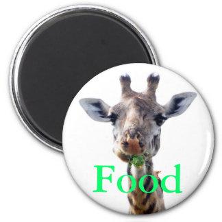 consumición de la jirafa imán redondo 5 cm