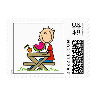 Consumición de la sandía sello