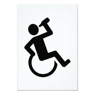 Consumición de la silla de ruedas invitación 8,9 x 12,7 cm