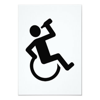"""Consumición de la silla de ruedas invitación 3.5"""" x 5"""""""