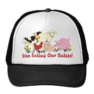 Consumición de los bebés animales gorras