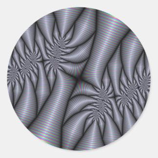 Consumición de los pegatinas del fractal de la pegatina redonda