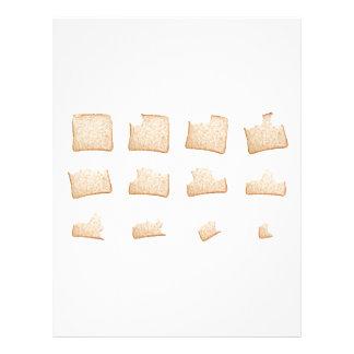 Consumición de una rebanada de pan integral membrete a diseño