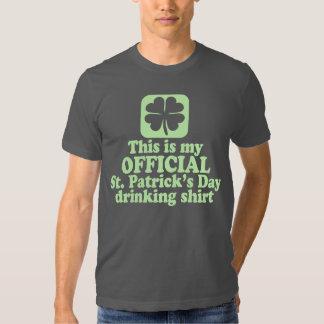 Consumición del día de St Patrick oficial Playera