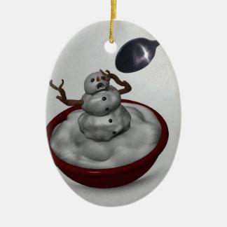 Consumición del ornamento del muñeco de nieve adorno para reyes