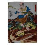 Consumición del samurai tarjetas
