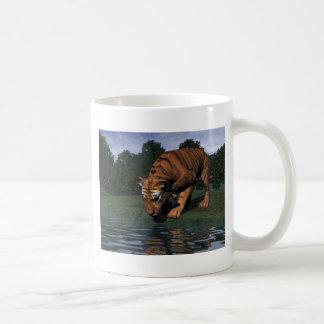 Consumición del tigre taza