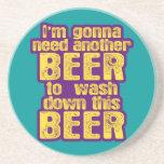 Consumición divertida de la cerveza posavasos cerveza