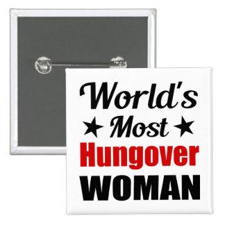 Consumición divertida de la mujer más hungover del
